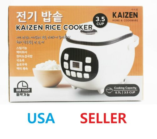 KAIZEN Electric Rice Cooker 3.5 Cup Non-Stick Pot Brown Rice Multi Cooker