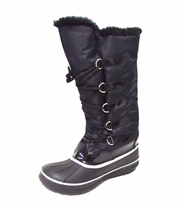 Women s Tall Winter Snow Boot Waterproof Water Resistant Fleece ... 9d4549926