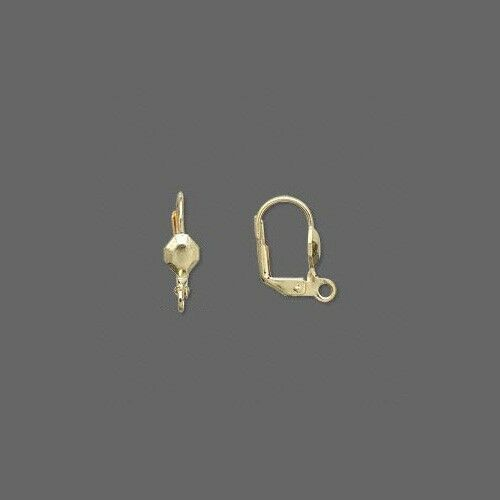 100 Gold Plated Hinged Leverback Earring Jewelry Findings with Loop /& Lever Back