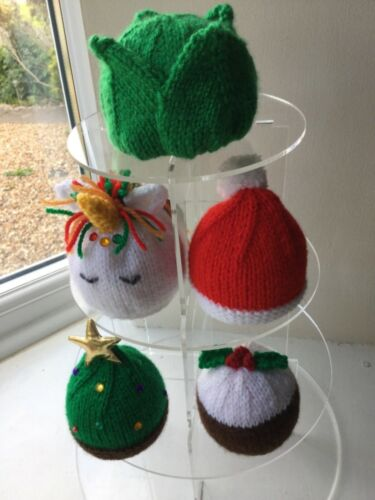 5 x CHRISTMAS  Fundraiser Chocolate Orange  Cover knitting patterns ONLY