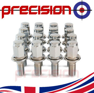 16-Chrome-Wheel-Bolts-Nuts-for-Citroen-C1-2005-2017-with-Citroen-Alloys