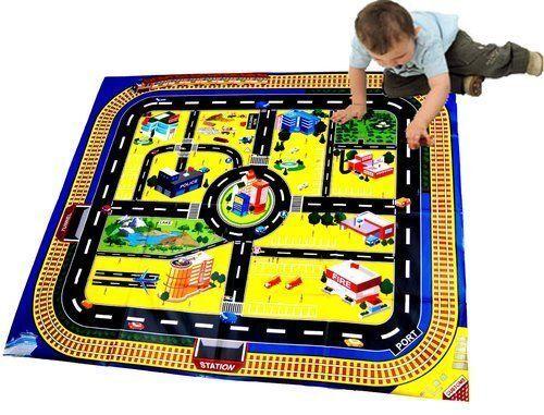 Kids géant ville playmat tapis de sol jouer pour voitures Jouet route du train track