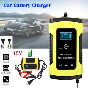 Details about 12 Volt 6 Amp Smart Battery Maintainer Charger for Motorcycle Car Truck US Plug