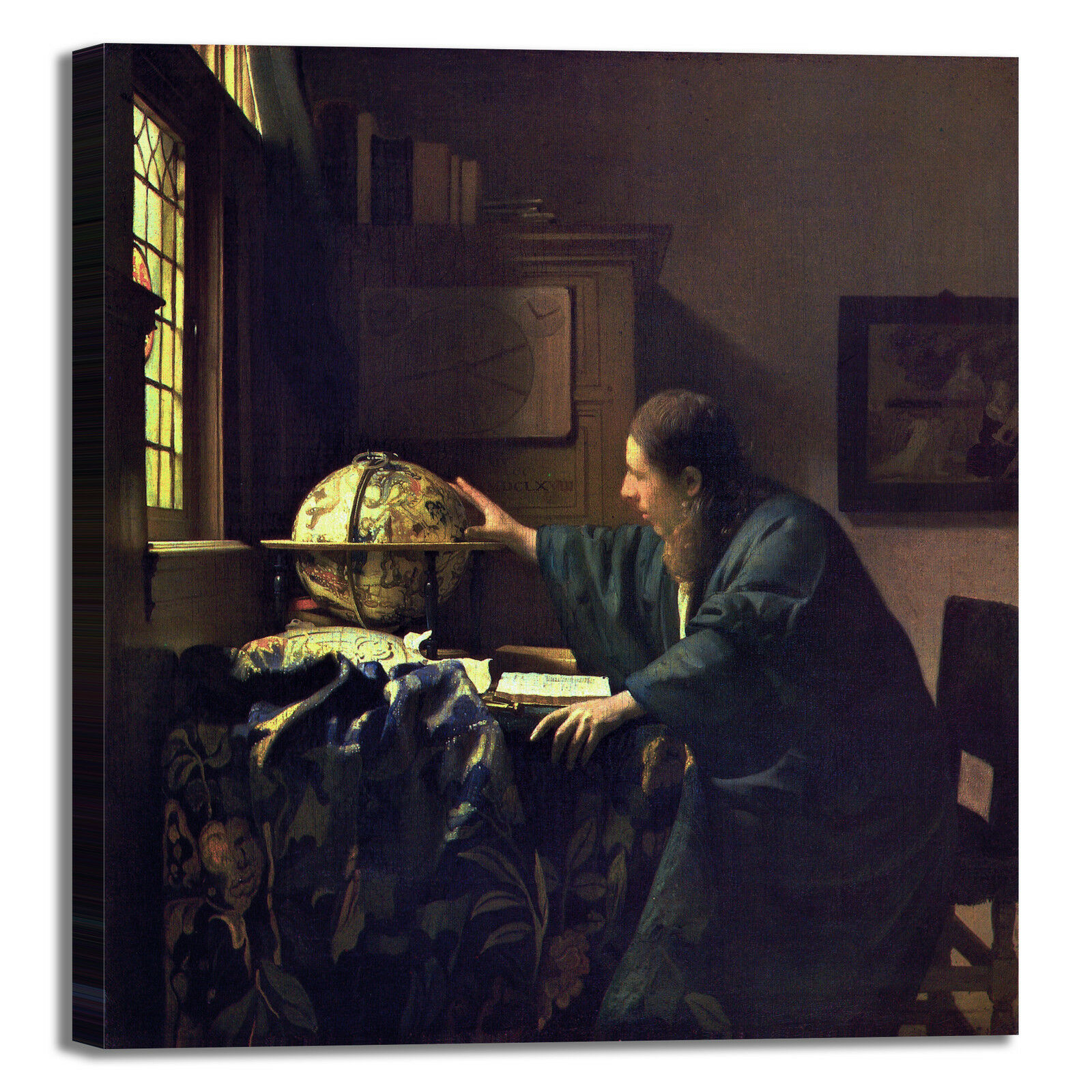 Vermeer astronomo design quadro stampa tela dipinto telaio telaio telaio arroto casa 15c641