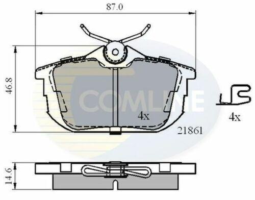 Rear Brake Pads FOR MITSUBISHI COLT CZC 1.5 06-/>09 Petrol RG 4A91 4G15T Comline