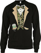 Camo Tuxedo Camoflauge Redneck Suit And Tie Formal Funny Long Sleeve Thermal