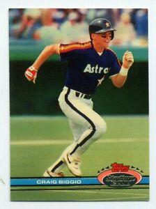 1991-Topps-Stadium-Club-CRAIG-BIGGIO-Rare-BASEBALL-CARD-176-Houston-Astros-HOF