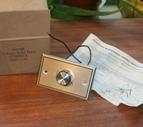 Jenn Air Variable Speed Control Switch w knob for Exhaust Fan