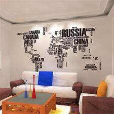 Large world map in words removable vinyl wall sticker decal mural item 3 world map in words removable vinyl wall sticker large decal mural art home decor world map in words removable vinyl wall sticker large decal mural gumiabroncs Image collections