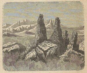 A4366 Ardschich - Incisione - Stampa Antica Del 1887