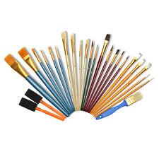 Pinsel-Set Rundpinsel Flachpinsel Fächerpinsel Katzenzungen Malmesser Pinselset