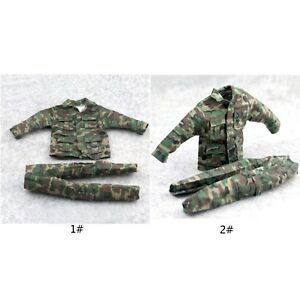 1-6-Scale-Uniforms-Coveralls-Suit-Woodland-Camo-Fit-For-Hot-Toys-B005-Body