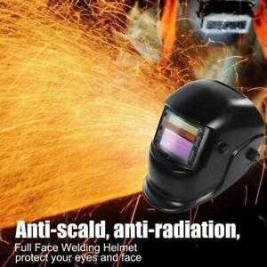 Large View Solar Auto Darkening Welding Helmet Mask Arc DIN4 Grinding Welder Cap