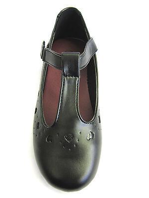 REBAJAS Mujer Sintético Negro cierre adhesivo con Escuela Zapatos Spot On h2336