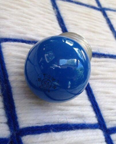 new GE mint VINTAGE blue 7 /&1//2 WATT S11 night LIGHT BULB 7.5s11 sign 11880 nos