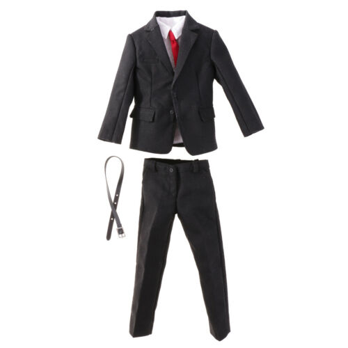 1//6 Formal Clothing Gentleman Suit Set for 12/'/' Hot Toys Figure Body Black