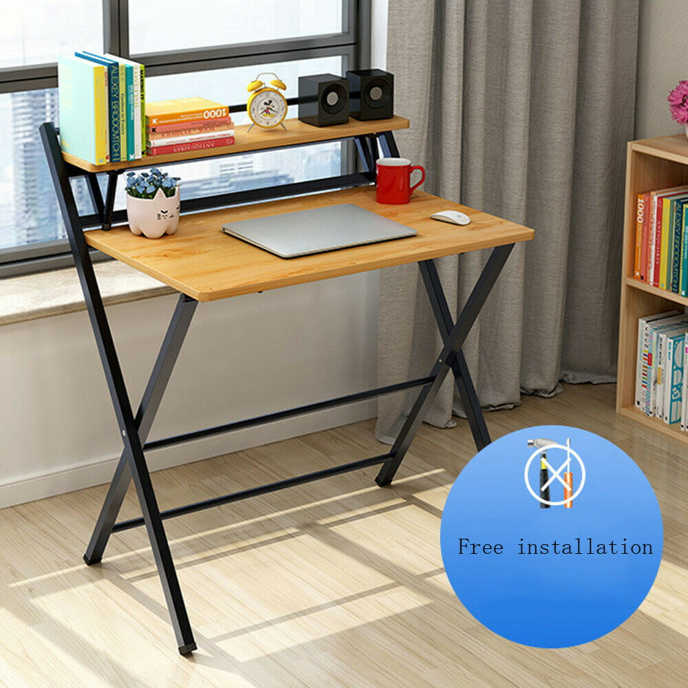 Folding Study Desk For Small Space Home Office Desk Simple Laptop Writing  Table
