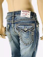 True Religion Ricky Big Qt Straight Blue Jeans Mens 34 X 34 Medium Wash Flap For Sale Online Ebay