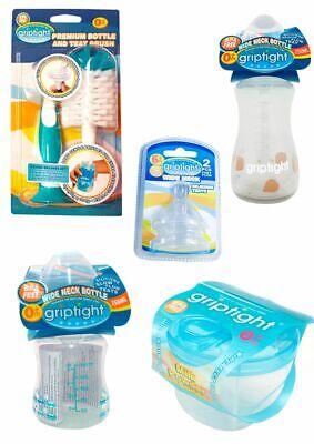 Griptight Twin Pack, Pink//Blue 60ml Newborn Standard Neck Feeding Bottle