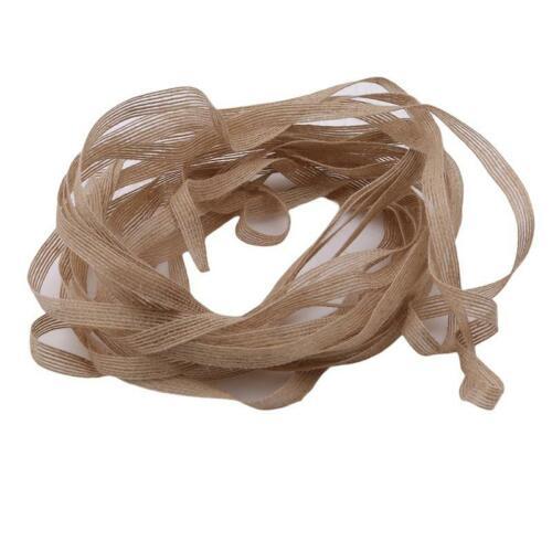 High Quality Wedding Decor Natural Jute Burlap Rustic Hessian Ribbon Tape SPM