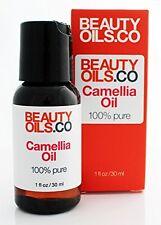 BEAUTYOILS.CO Camellia Oil - 100% Pure Cold-Pressed Tsubaki Face Beauty Oil 1 fl