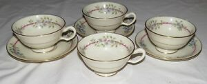 Lenox-Belvidere-S-314-Four-Cup-and-Three-Saucers