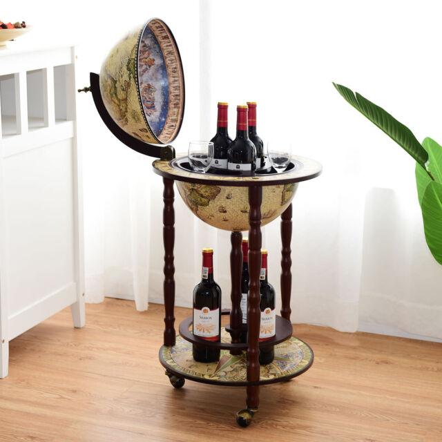 Globusbar Minibar Weltkugel Hausbar Flaschenregal Cocktailbar Dekobar Tischbar
