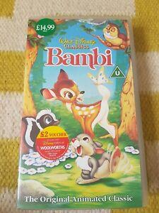 DISNEY-CLASSICS-Bambi-VHS-Video-Tape-Very-Good-Condition-PAL