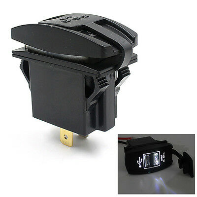 New 12V 24V Car Auto Boat Accessory Dual USB Charger Power Adapter LED Outlet