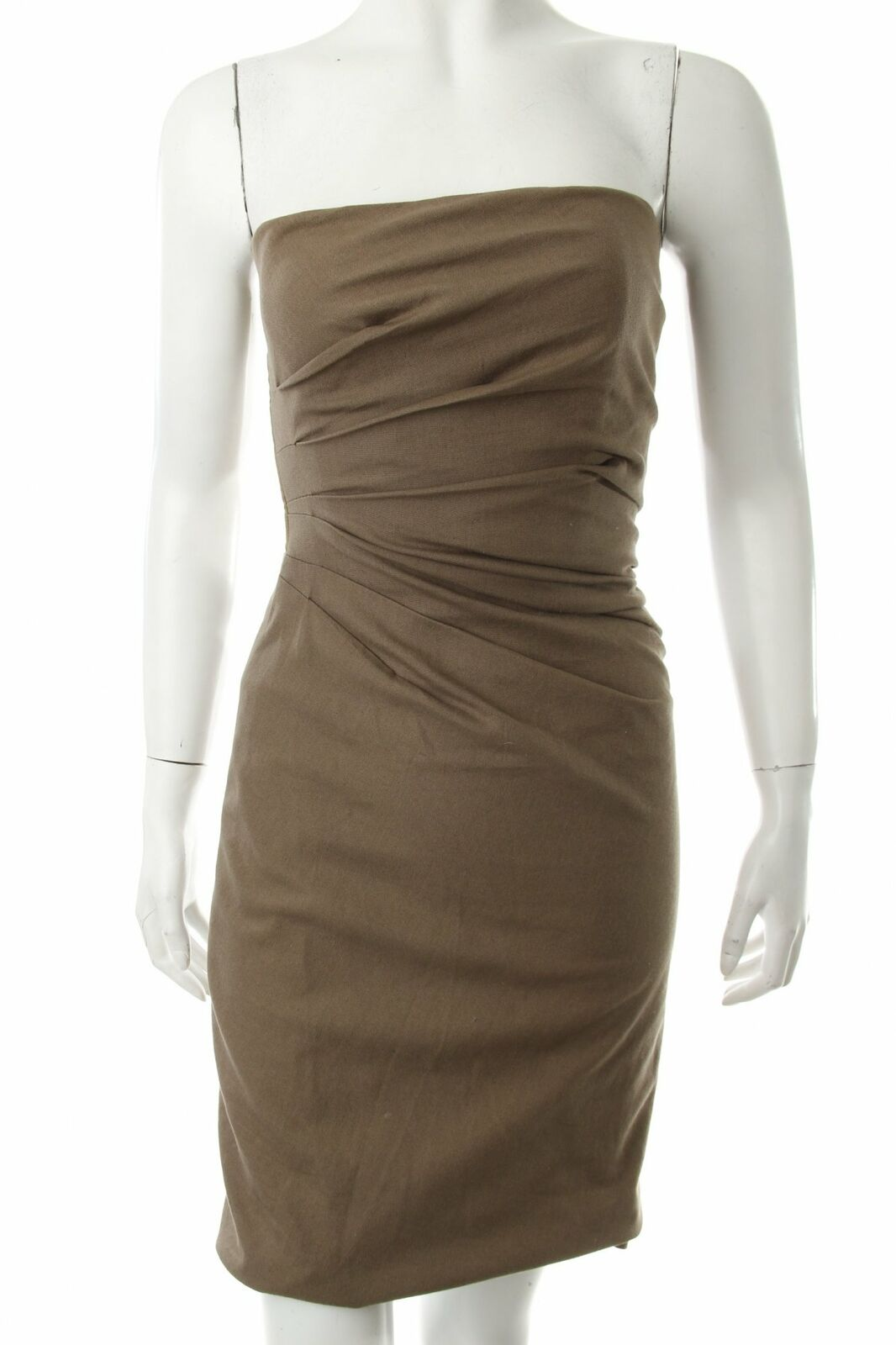 gucci bandeaukleid khaki damen gr. de 34 kleid dress bandeau