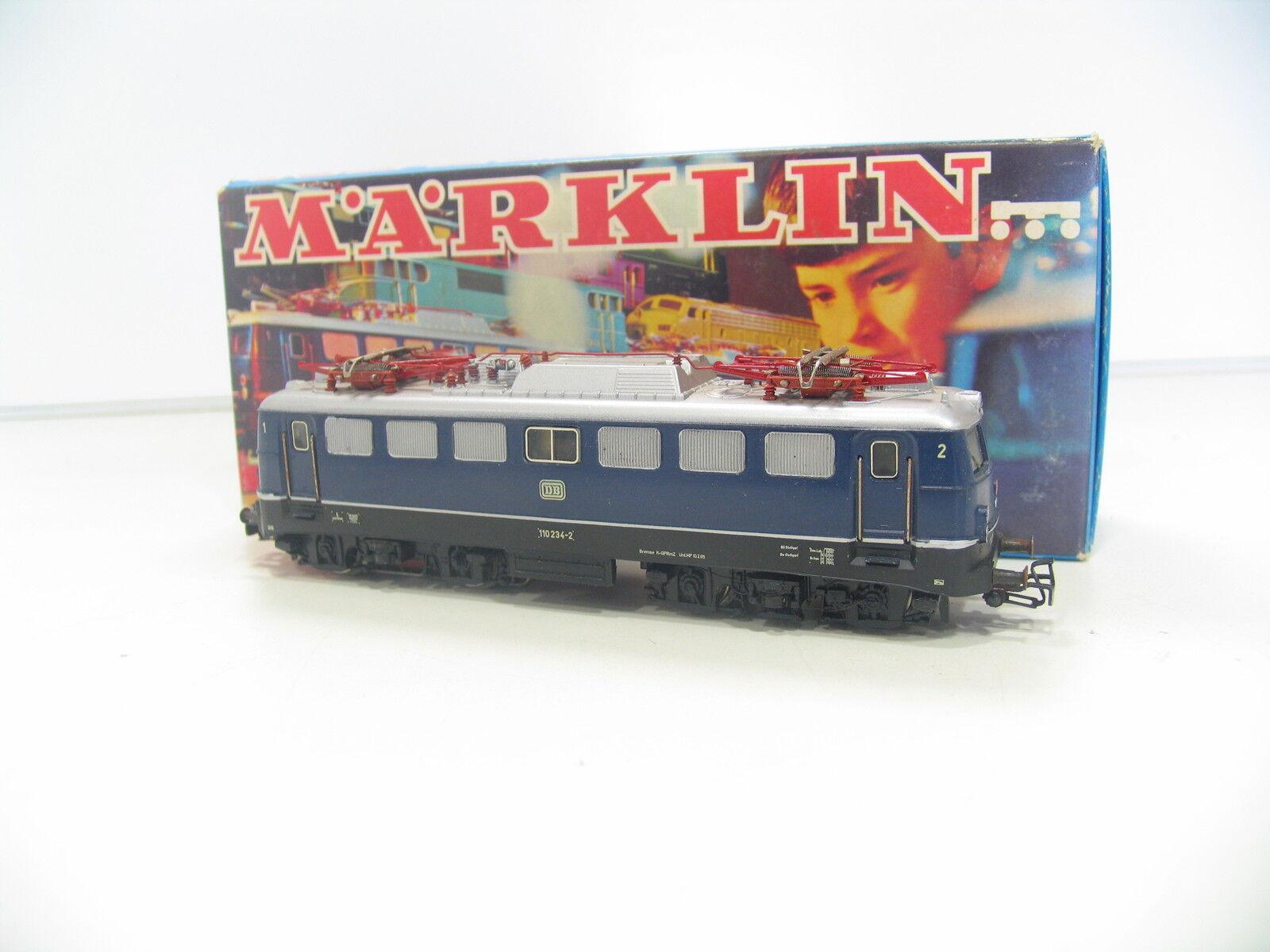 Märklin 3039 E-Locomotive BR 110 bluee the Db hi186