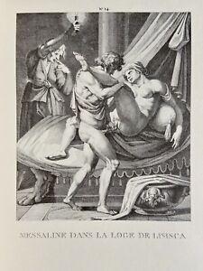 Agostino Carracci erotico vagina pene atto antica Valeria Messalina selvaggiamente