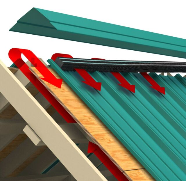 Ag Building 16 Inch Standing Seam Venting Foam with Adhesive