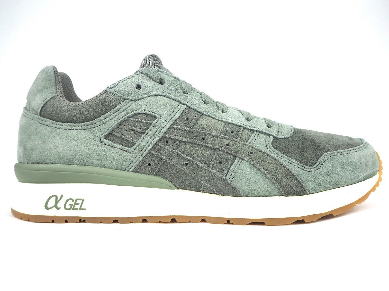 Mens Asics Gel II H7T1L 8131 Agave Green Lace Up Leather Casual Trainers