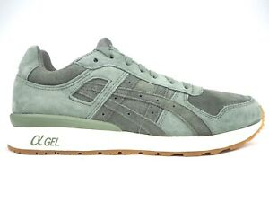 premium selection 03017 20635 Details about Mens Asics Gel II H7T1L 8131 Agave Green Lace Up Leather  Casual Trainers
