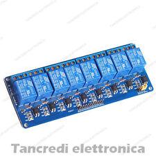 Modulo scheda 8 relè relay canali optoisolati 250V 10A 12Vdc 12V arduino shield