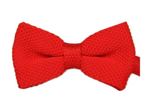 MENS BOYS PRE-TIED WEDDING EVENT PROM KINTTED BOW TIE CLIP UK SELLER