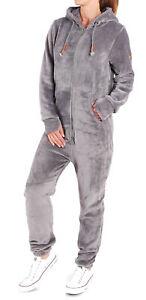 Finchgirl-F2001-Damen-Jumpsuit-Teddy-Fleece-Einteiler-Overall-Anzug-Flauschig