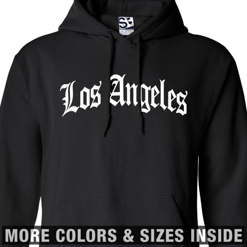 Los Angeles OE Arch HOODIE Old English LA Hooded Sweatshirt - All Größes & Farbes