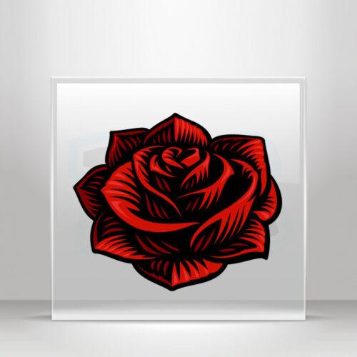 Sticker Decals Red rose tattoo Helmet Motorbike Bike Garage A19 3KR28