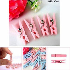 Image Is Loading Mini Plastic BLUE PINK Baby Shower Clothespins Party