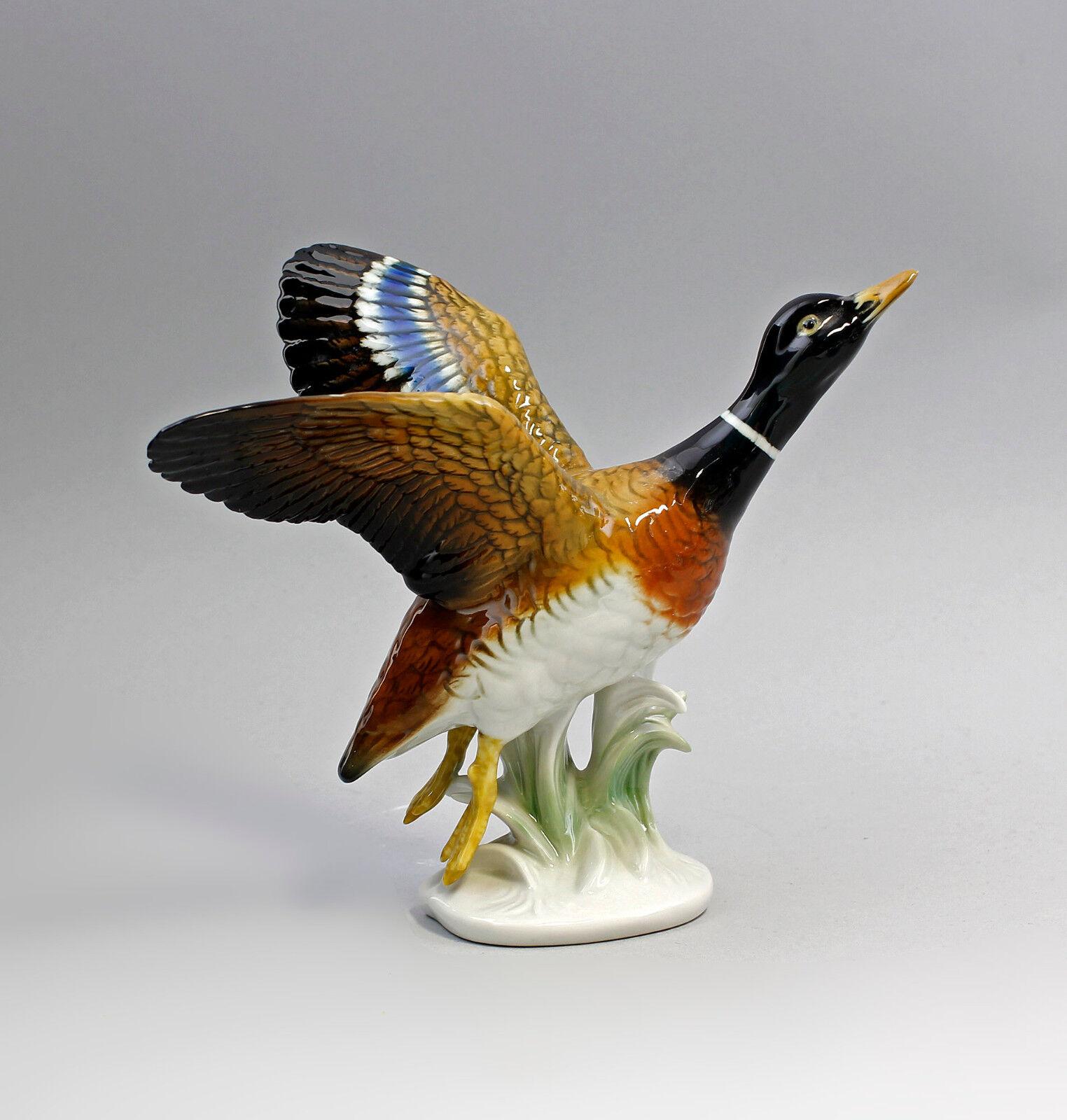 PORCELLANA PERSONAGGIO PAPERA volando Erpel uccelli ENS h16cm 9997748