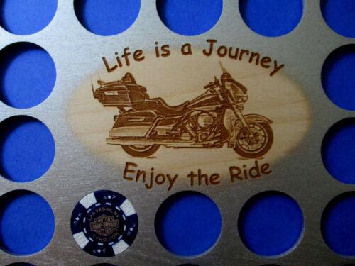 36 Silver FLHTK  Motorcycle Poker Chip Display Frame Insert Fits Harley//Casino