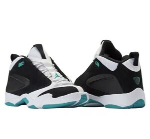 Jordan Jumpman Shoes Quick 23 Black White Turbo Green Men's Size 9.5 AH8109-003