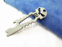 Titanium Skull Bottle Opener Pry Bar Spanner Hex Wrench Key Pendant