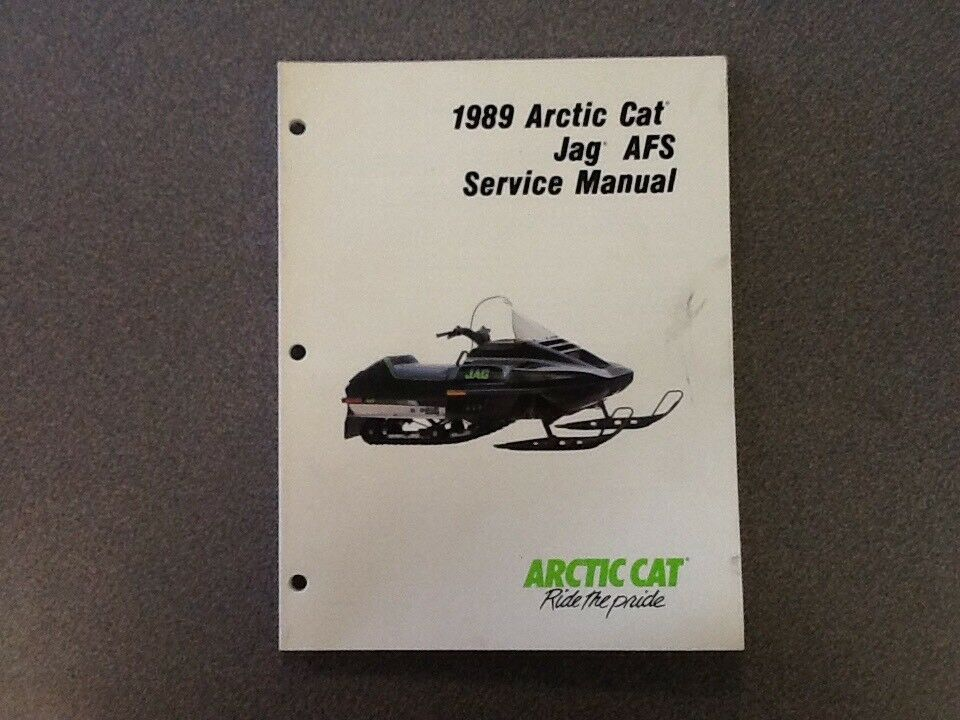 ARCTIC CAT OEM SERVICE MANUAL 1989 JAG AFS 2254-500