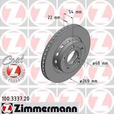 2x ZIMMERMANN BREMSSCHEIBE VORNE BELÜFTET Ø320 AUDI A6 4B C5 BJ 97-05