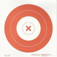 G-n [ay-n] 20cm [8] Archery Target, 5cm [2] Center Ring With Red x (qty. 50)