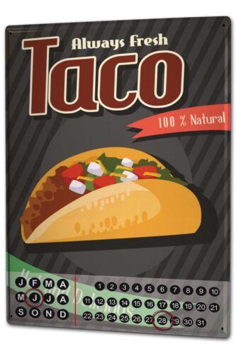 Dauer Wand Kalender Küche  Taco Metall Magnet