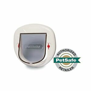 PetSafe Big Cat Door 4-Way Locking White Interior/Exter
